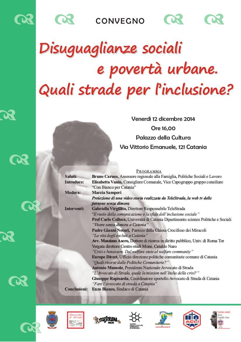 Disuguaglianze sociali e povertà urbane. Quali strade per l'inclusione?